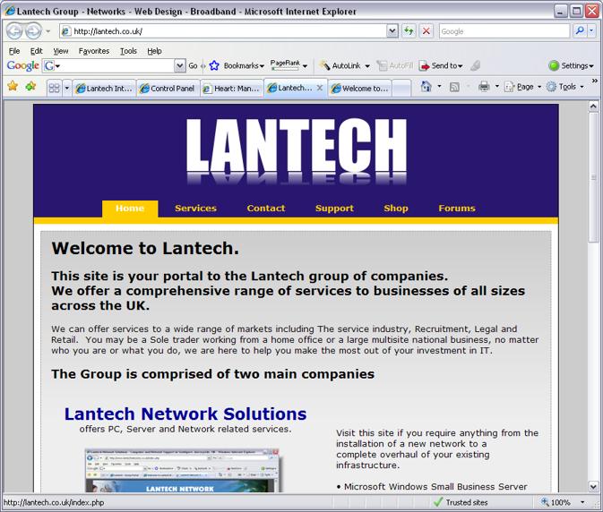 Our Portfolio Of Clients Lantech Web Design